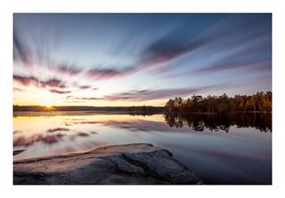 Sunset sky over lake Öran