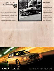1949 Cadillac DeVille & 2000 DeVille DTS (aldenjewell) Tags: cadillac 1949 1999 deville 50th anniversary motor trend coty car year flyer brochure