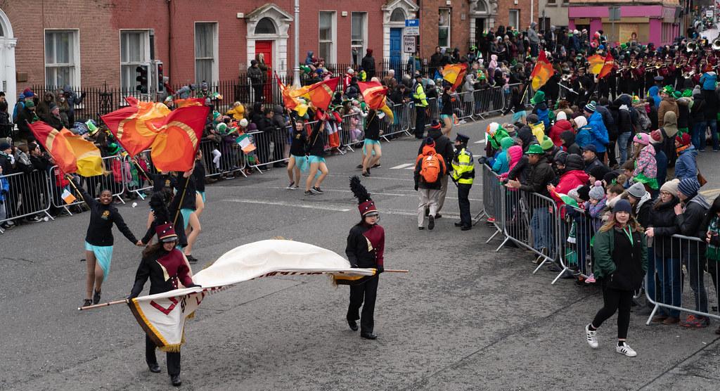 La Cañada High School Marching Spartans[ Patricks Day Parade In Dublin 2018]-137608