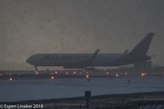 N649GT Atlas Air Boeing 767-375(ER)(WL) (Otertryne2010) Tags: 2018 2k18 767300 atlas boeing enva norge norway trd trondheim værnes snow snø winter 767375erwl air