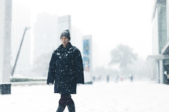 SnowCrab~! (SidhArcheR) Tags: snowfall snow dof bokehlicious bokeh 6d 50mmf14 beijing china sanlitun winter