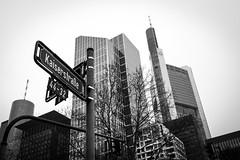 Bank capital (Sam García GA.) Tags: frankfurt germany europe sign street strase kaiserstrase skyscrapers bank