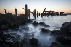 fleming point (eb78) Tags: ca california eastbay albany flemingpoint pier abandoned decay longexposure