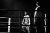 23450 - The Match (Diego Rosato) Tags: boxe boxelatina palaboxe boxing night nikon d700 70200mm sigma rawtherapee bianconero blackwhite ring referee arbitro match