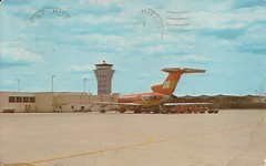 AUSmueller02 (By Air, Land and Sea) Tags: texas airport austin aus robertmuellermunicipalairport postcard terminal aircraft airline airplane braniff boeing 727 b727