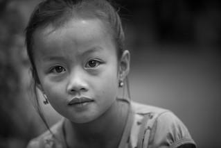 Laos: enfant des villages.