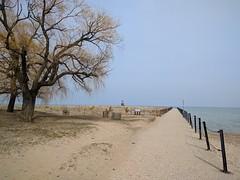 Pier (ancientlives) Tags: chicago illinois il usa travel trips loyolabeach loyola beach pier nature naturereserve walking lakemichigan lakefronttrail lakeshore lake wednesday spring 2018 april luc ngc