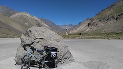Penitentes to Las Cuevas (Tomas Belcik) Tags: argentina cycling bicycle touring bicycletouring bike andes mountains cementerio cemetery cementeriodelosandinistas puentedelinca controlintergradocomplejohorcones parqueaconcagua cerroaconcagua rutassanmartinianas railroad lacaballeriza menu restaurant refugio hosteldemontana lascuevas cristoredentor incabridge