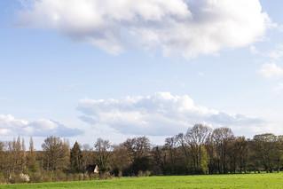 A spring sky. Le Perche, Orne, Normandie, France