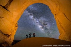 The Three Amigos (David Swindler (ActionPhotoTours.com)) Tags: grandstaircase grandstaircaseescalante greatchamber milkyway utah night nightphotography nightscape photographer photographers
