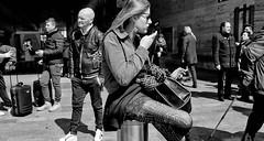 Just a girl. (Baz 120) Tags: candid candidstreet candidportrait city candidface candidphotography contrast street streetphoto streetphotography streetcandid streetportrait sony a7 fullframe rome roma romepeople romestreets europe women monochrome mono monotone noiretblanc bw blackandwhite urban life primelens portrait people pentax20mm28 italy italia girl grittystreetphotography faces decisivemoment strangers