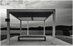 Open (frankdorgathen) Tags: sky ruhrpott ruhrgebiet water stadtwald essen baldeneysee blackandwhite monochrome landscape lake roof