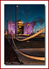 Here Again !! (Deek Wilson) Tags: titanicbuilding belfast bluehour nothernieland landmarkropes rope architecture colouredbuilding titanicslipway nightphotography