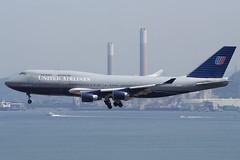 UA B744 N104UA (EddieWongF14) Tags: unitedairlines boeing boeing747 boeing747400 boeing747422 b747 b744 747 747400 747422 n104ua hkg vhhh hongkonginternationalairport