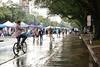 Rainy New Orleans Street (BKHagar *Kim*) Tags: bkhagar mardigras neworleans nola la parade celebration people crowd beads outdoor street napoleon uptown rain rainy wet bicycle riding walking walkers