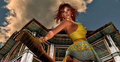 Tease (catarina.sharktooth) Tags: beauty sunshine spring redhead portrait sexy lovinglife goodolddays izzies maitreya ikon hillyhaalan argrace yummy lelutka