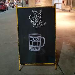 Black Coffee (Fred:) Tags: black coffee blackfag logo parody cup mug nook gottingen halifax café thenook cafe tasse symbol symbole punk rock sign affiche pancarte novascotia rue street signe