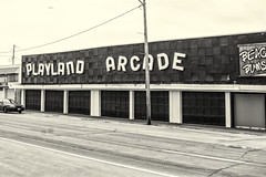 Arcade--Mono (PAJ880) Tags: offseason resort arcade playland closed hampton beach nh mono bw ocean boulevard