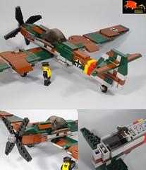 BV 155 details (Eínon) Tags: lego luft 46 luft46 ww2 germany b29 b17 second world war bb155 bv 155