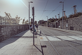LUAS TRAM STOP AT COLLINS BARRACKS [RED LINE MUSEUM STOP]-138715