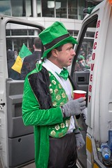 Too many Guinness's ? (f22photographie) Tags: green parade streetparade culture paddysday stpatricksdayparade2018 colourful fun characters hats waistcoats fancycoat drinkingtea streetphotography