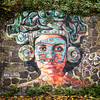 Maya Rhine daughter (Alexander Dülks) Tags: azteca mural krefeld 2017 kopfschmuck wall wandmalerei adrydelrocio maya uerdingen mauer aztekin rhinesidegallery rhine rheintochter rhein germany grafitto grafitti
