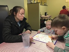 """Paul, Dani, and Mommy Color at Little Italian Pizza • <a style=""""font-size:0.8em;"""" href=""""http://www.flickr.com/photos/109120354@N07/39113453950/"""" target=""""_blank"""">View on Flickr</a>"""