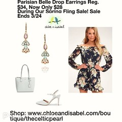 Today's Featured Item: Parisian Belle Drop Earrings Reg. $34, Now Only $28 During Our Spring Fling Sale! Sale Ends 3/24 So Shop Now At: https://www.chloeandisabel.com/boutique/thecelticpearl/products/E403GRAG/parisian-belle-drop-earrings  Get lost in a wo (thecelticpearl) Tags: parisianbelle crystal vintage style thecelticpearl trend ootd white daily product sale paris earrings shopping online peach crystals featured spring resin accessories springfling opal pink trendy shop guarantee chloeandisabel fashion buy love jewelry trending trends boutique mint lifetime