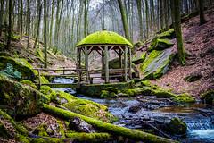 Karlstalschlucht (Dr. Gonzo78) Tags: pavillon bäume bach natur steine rheinlandpfalz karlstalschlucht moos laub blätter wasser trippstadt deutschland pfälzerwald landschaft