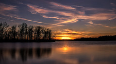 Sunset at the Bend Area.... (Kevin Povenz Thanks for all the views and comments) Tags: 2018 march kevinpovenz westmichigan michigan ottawa ottawacounty ottawacountyparks jenison sunset sun clouds sky evening eveningsky pond lake reflection canon7dmarkii sigma1020 tree trees dusk orange yellow outside outdoors longexposure 10stopfilter