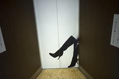 Elevator door by mokuu - Osaka City JAPAN / LEICA M9 × SUMMICRON-M 28mm F2 ASPH. / JJ C3 09 017 / mokuu.cc/2012/12/post-427.html