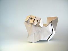 Pekingese  - 212moving (Rui.Roda) Tags: origami papiroflexia papierfalten dog chien perro cão cachorro pekingese 212moving