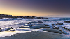 Sunrise Seascape and Rock Platform (Merrillie) Tags: daybreak sunrise spoonbay nature australia surf wamberal centralcoast newsouthwales waves earlymorning nsw morning beach ocean sea landscape sky coastal waterscape outdoors seascape water coast dawn seaside