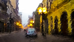 jpg 2658 impressionismo (loubacksurf) Tags: rua céu luzes chuva poste carro predios