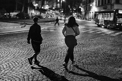 catching the bus (ale_brando) Tags: bus busstop people nightlife roma rome romebynight night fx nikonfx niksoftware silverefexpro d700 monochrome mono
