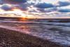 Autumn Sunset (Kevin Pihlaja) Tags: mclainstatepark keweenaw upperpeninsula michigan lakesuperior greatlakes sunset waves wind clouds landscape nature rocks shoreline leefilters