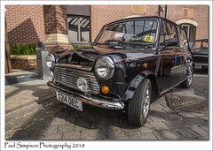 Classic Black Mini (Paul Simpson Photography) Tags: mini car transport transportation classicmini british lincoln lincolnshire bigminiday2018 photosof photoof imagesof imageof cars sonya77 sunshine carsonshow blackcar blackmini paulsimpsonphotography