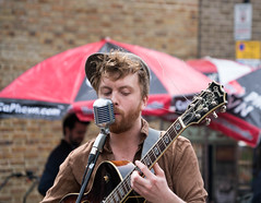 Singer at Broadway Market in Hackney - London, UK (ChrisGoldNY) Tags: chrisgoldphoto chrisgoldny chrisgoldberg albumcover bookcover licensing forsale sony sonyimages sonyalpha sonya7rii london uk unitedkingdom england britain greatbritain british english hackney eastlondon people portraits redhead ginger redhair music musicians streetmusicians candid