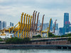Many Giraffes Make Light Work (Steve Taylor (Photography)) Tags: crane giraffe docks walkway psa 74 architecture asia singapore port