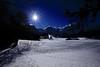 Shine Winter Sun (Or: Snowshoe Highway Junction) (K M V) Tags: sunstar starburst sunburst sun snow winter mountains tracks traces jäljet talvi aurinko lumi lunta schnee haldi schneeschuhlaufen sonne vinter snö sol solenskiner lhiver neige neve nieve invierno inverno