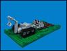 Tilling the Soil (Karf Oohlu) Tags: lego moc vignette microscale tillingtheground earthmovingmachine tractor