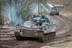 NATO Exercise Allied Spirit 8 in Southern Germany (Defence Images) Tags: fv510 warrior infantryfightingvehicle combatvehicles vehicle 1stbattaliontheprincessofwalessroyalregimentqueensan 20armouredinfantrybrigade20aibdepaderborn 3ukdivision3ukdiv armouredfightingvehiclesafv equipment exercisealliedspirit8 queensdivisionqueens army location locations overseas germany nato multinational polish interoperability partnering clothing personalclothingsystem pcs combats camouflage multiterrainpattern mtp headwear helmet virtushelmet personnel identifiable soldiers male man personalprotectiveequipment googles smoke mud track defence defense uk british military paderborn bavaria deu