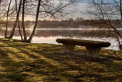 domaine de Chalés, Nouan le Fuzelier (franck_barske) Tags: banc lac loiret chalés aube reflet paysage levédesoleil
