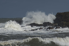 Round The Rugged Rocks (steve_whitmarsh) Tags: aberdeen scotland storm water sea ocean splash rocks waves