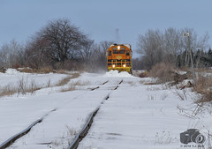GEXR 2303 (Ramblings From The 4th Concession) Tags: gexr2303 exetersub snowplow geneseewyoming emdlocomotives gp392c railwayphotography trains freighttrains gexr