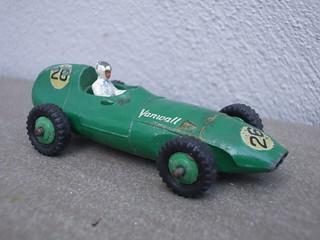 Vintage 1950's Dinky Toys Green Vanwall Racing Car