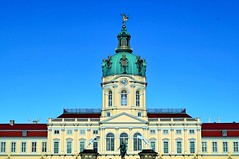 Contrasts (Pictures in my head) Tags: germany visit country explore discover city berlin trip with friends students history castle palace charlotte blue sky contrasts red green white majestic photography architecture good time beautiful day winter cold warm