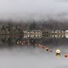 Buoyant (raymond_carruthers) Tags: trees perthshire scotland crannogcentre mist reflections kenmore fog marina buoys lochs lochtay