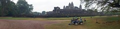 Angkor Wat (D70) Tags: angkor wat angkorwat grass cutting crew work with their transport front center samsung smg900w8 ƒ22 48mm 1372 40 motorcycle motorscooter bicycle bike panorama building