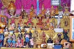 fortune teller's golu or kolu (the foreign photographer - ฝรั่งถ่) Tags: fortune tellers shrine images dolls khlong thanon bangkhen bangkok thailand nikon d3200